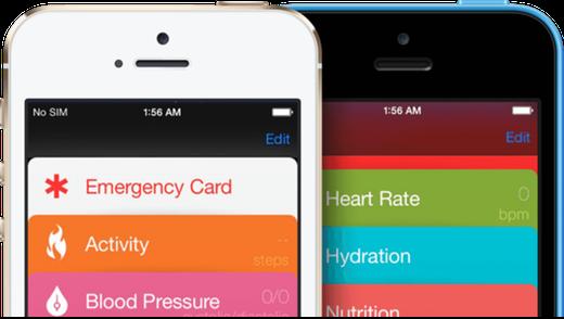 Concept: iOS 8 Healtbook