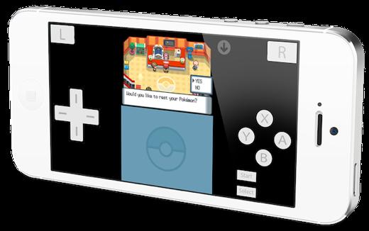 De emulator werkt op iPhone en iPad.