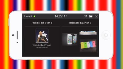 De remote control-functie in de Keynote iOS-app