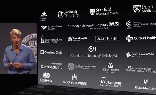 Apple werkt samen met een groot aantal medische bedrijven.