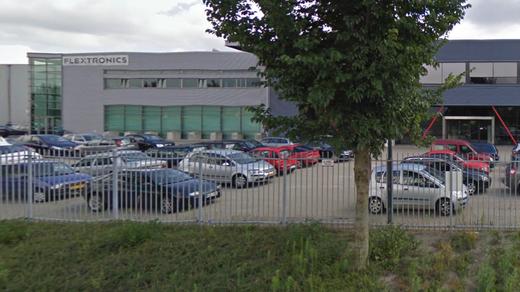 Het gebouw van Flextronics in Venray.
