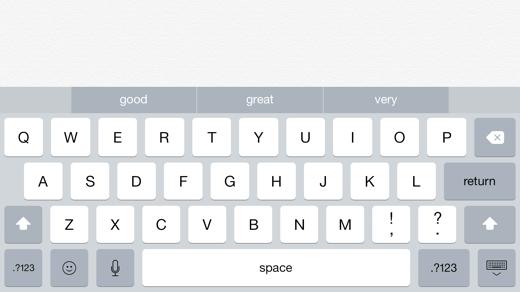 QuickType werkt nu ook op de iPad.