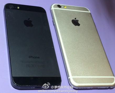 Een van de accurate lekken van de iPhone 6.