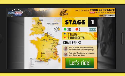 Bedwing de parcours van de Tour de France 2014
