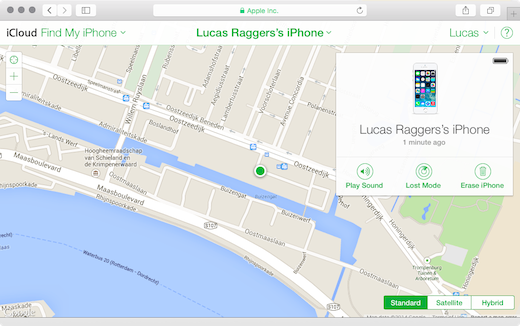 Zoek Google Maps