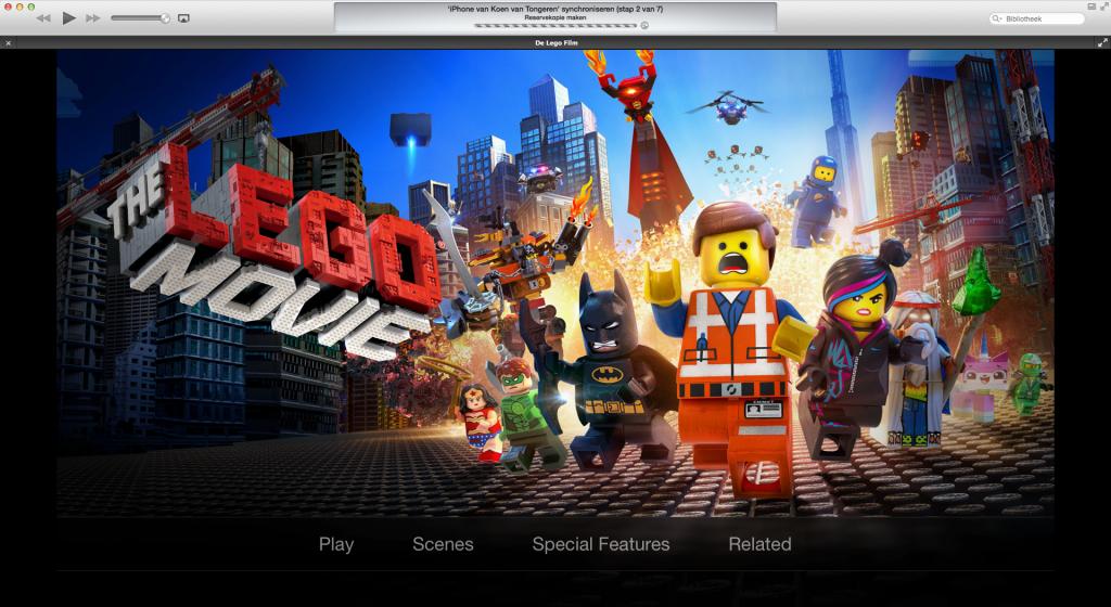 iTunes Extras in de LEGO Movie