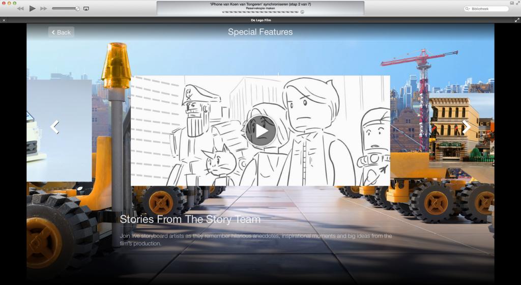 iTunes Extras in de LEGO Movie.