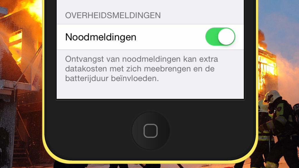 NL-Alert is in te schakelen via Instellingen > Berichtencentrum.