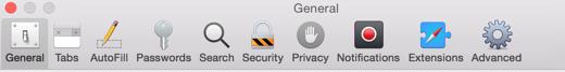 En ook de icoontjes van de Safari-instellingen hebben een make-over gekregen.