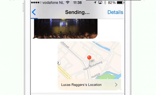Deel je locatie met groepen of in een privé-chat
