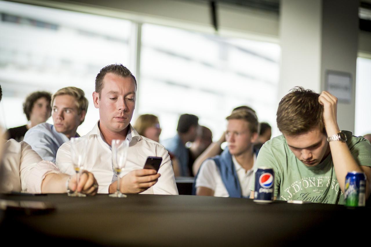 Twitter en Facebook werden door onze gasten continue in de gaten gehouden.