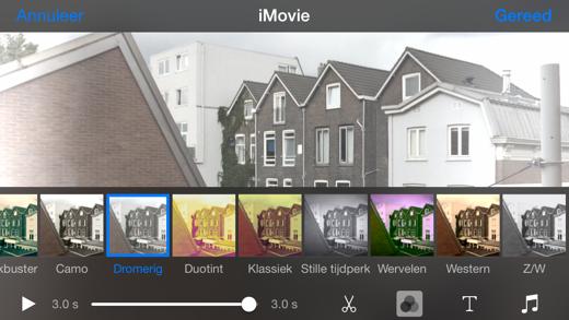 Filmpjes bewerken in de Foto's app