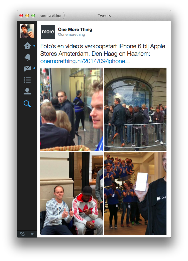 Belangrijkste verbetering: ondersteuning voor Tweets met meerdere foto's.