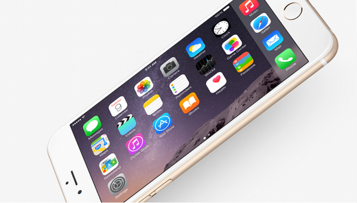 Horizontale interface van de iPhone 6 Plus