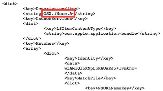 De ingebouwde beveiliging van OS X herkent nu ook de 'iWorm'.