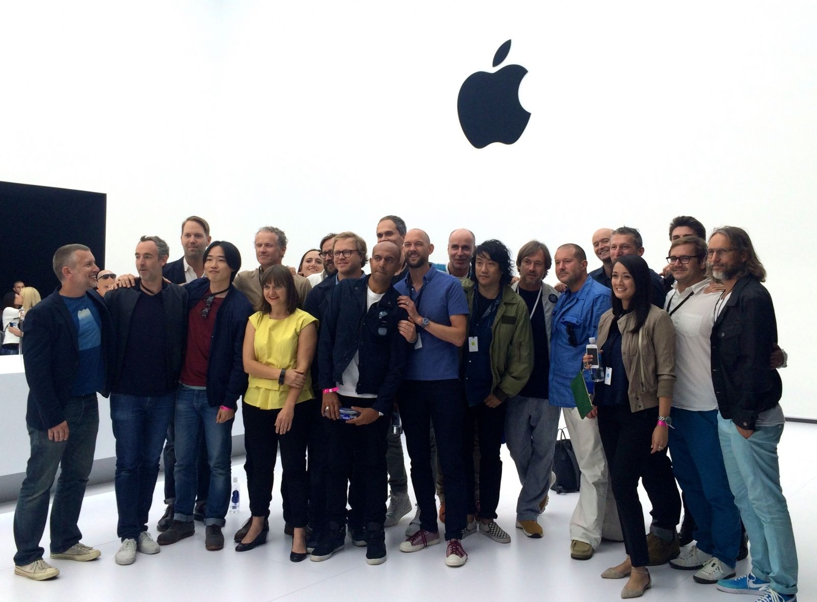 Apple's Industrial Design team tijdens de onthulling van de Apple Watch [Photo: Leander Kahney/Cult of Mac]