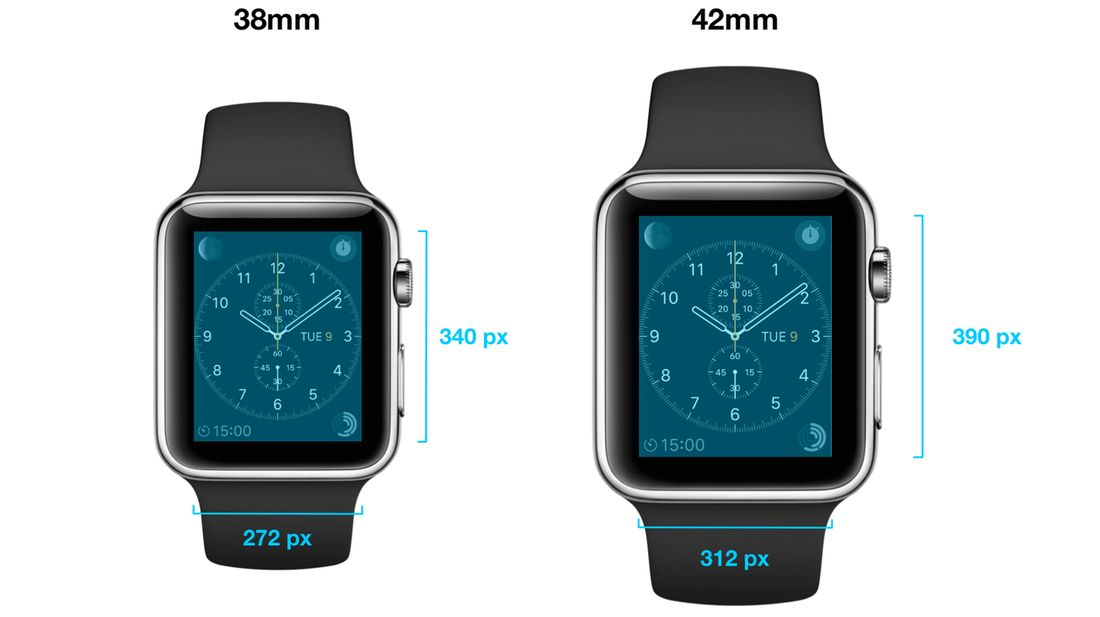 apple watch formaten en pixels