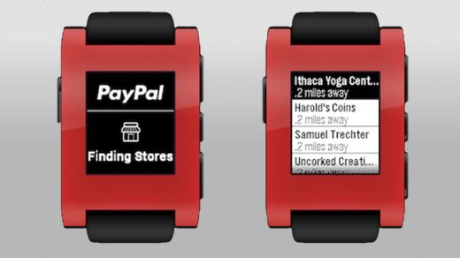 Inchecken met PayPal en Pebble.