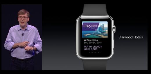 Apple kondigt de Starwoodsleutel aan op de Apple Watch.