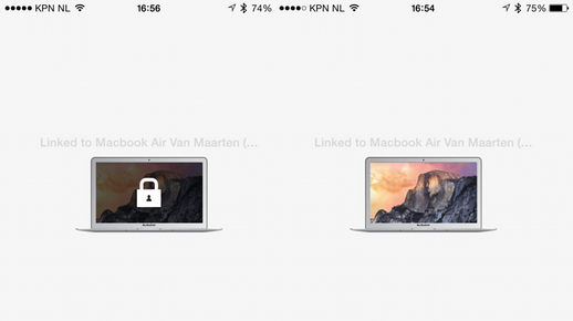 Vergrendel en ontgrendel je Mac via de app.