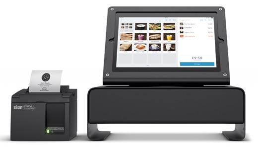 Optionele kassalade met iPadhouder van iZettle
