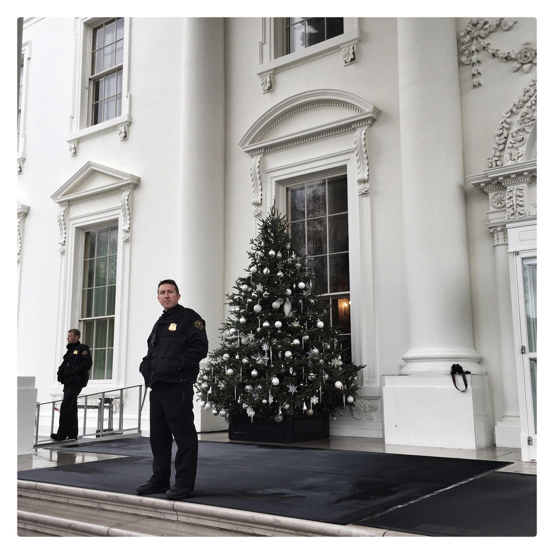 Agenten van de geheime dienst voor het witte huis.