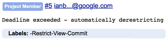 google deadline