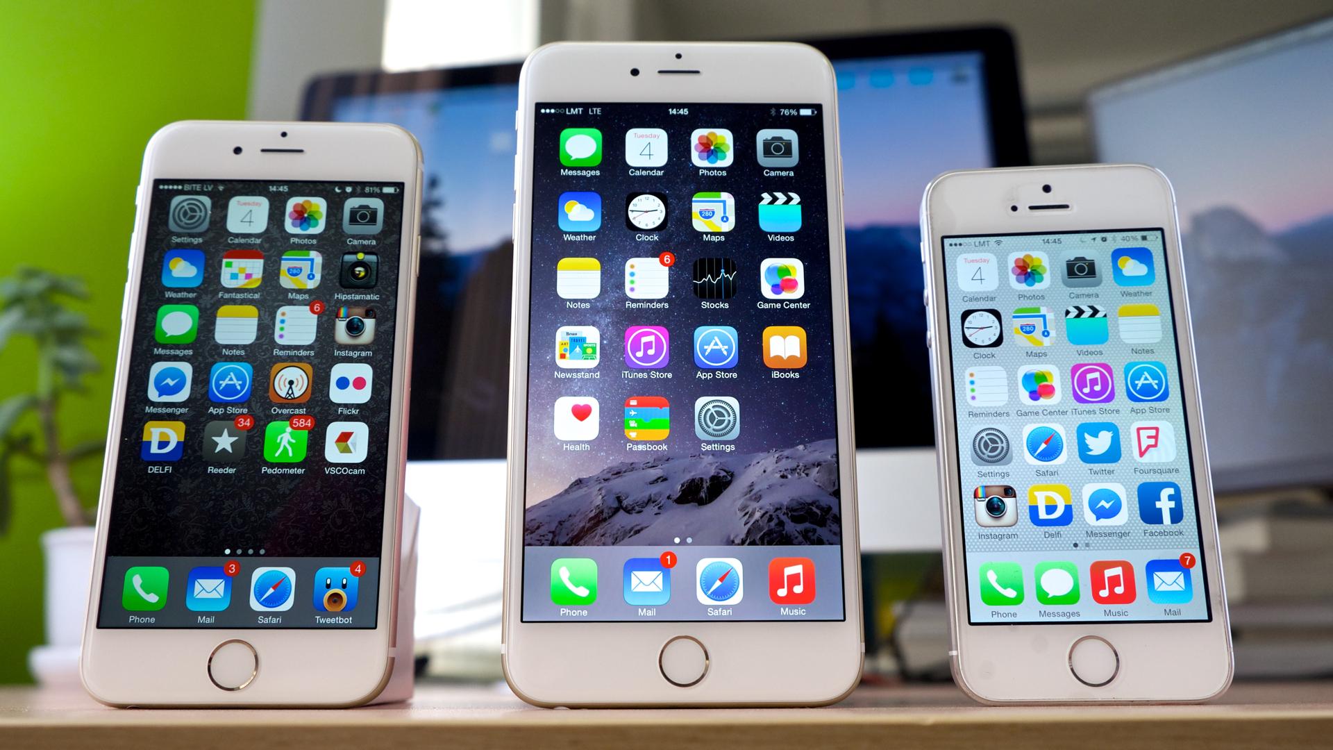 iPhone 6, iPhone 6 Plus, iPhone 5s-16x9