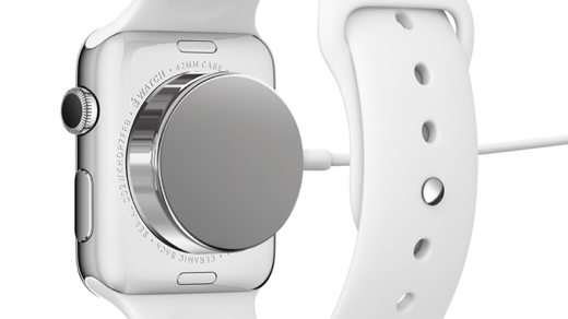 De magnetische oplader van de Apple Watch