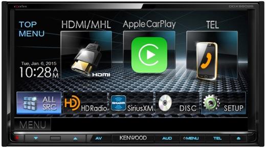 Zoals bij alle after-market radio's moet je even door de lelijke interface heen, voordat CarPlay start.