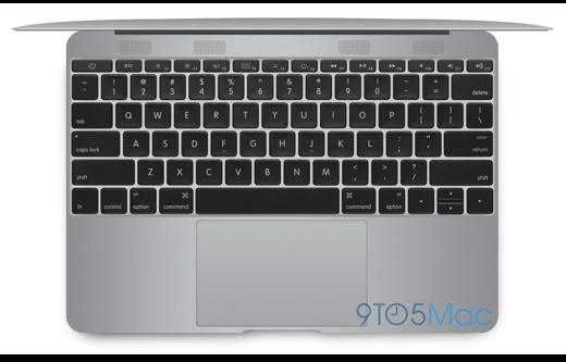 Geen rand meer om het toetsenbord (foto: 9to5mac.com)