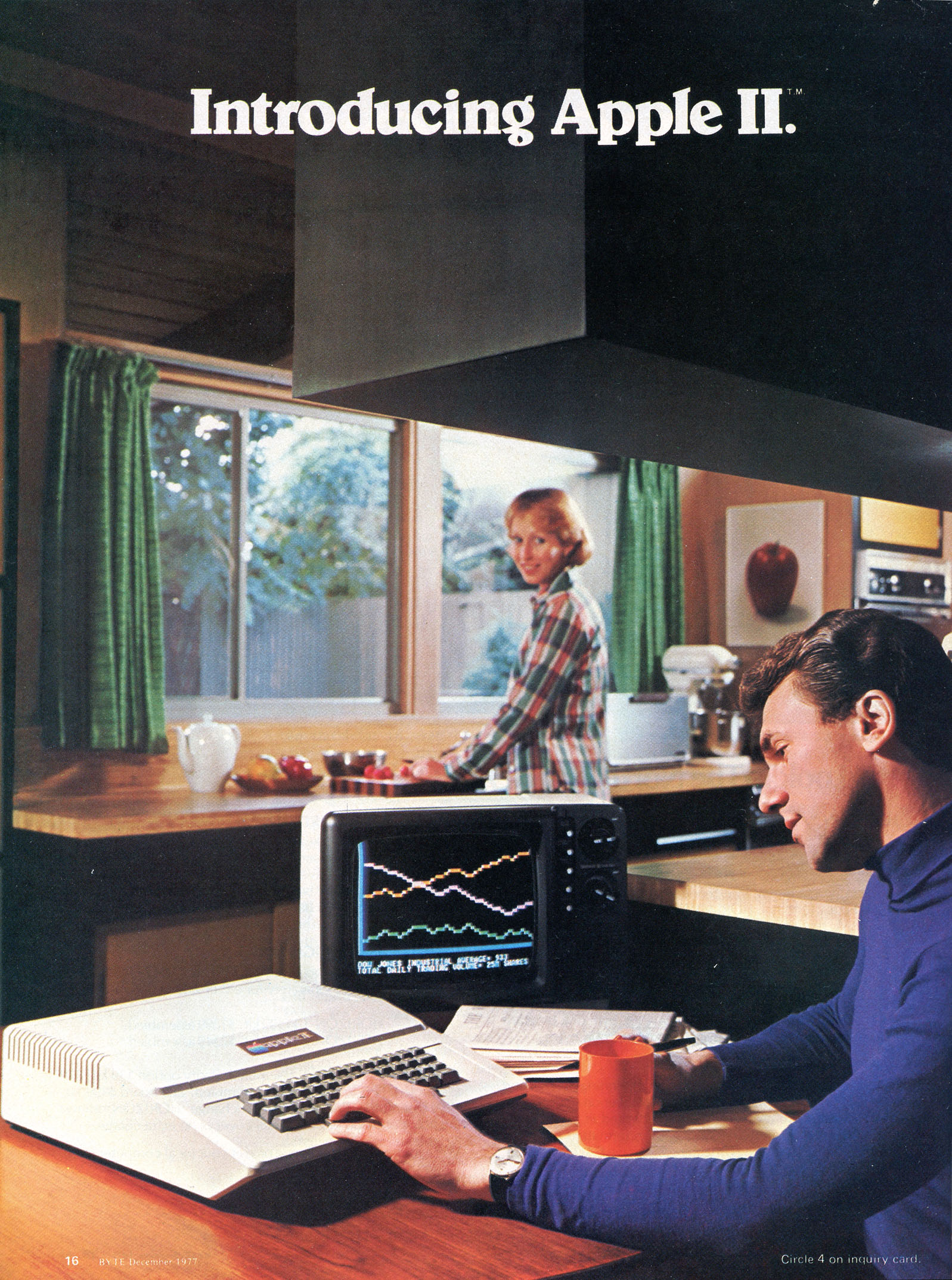 An Apple II advertisement from the December 1977 issue of Byte m