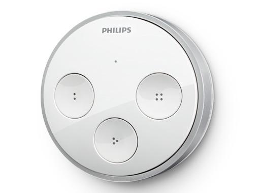 Hue tap: vier programmeerbare knoppen zonder stroom of batterij.