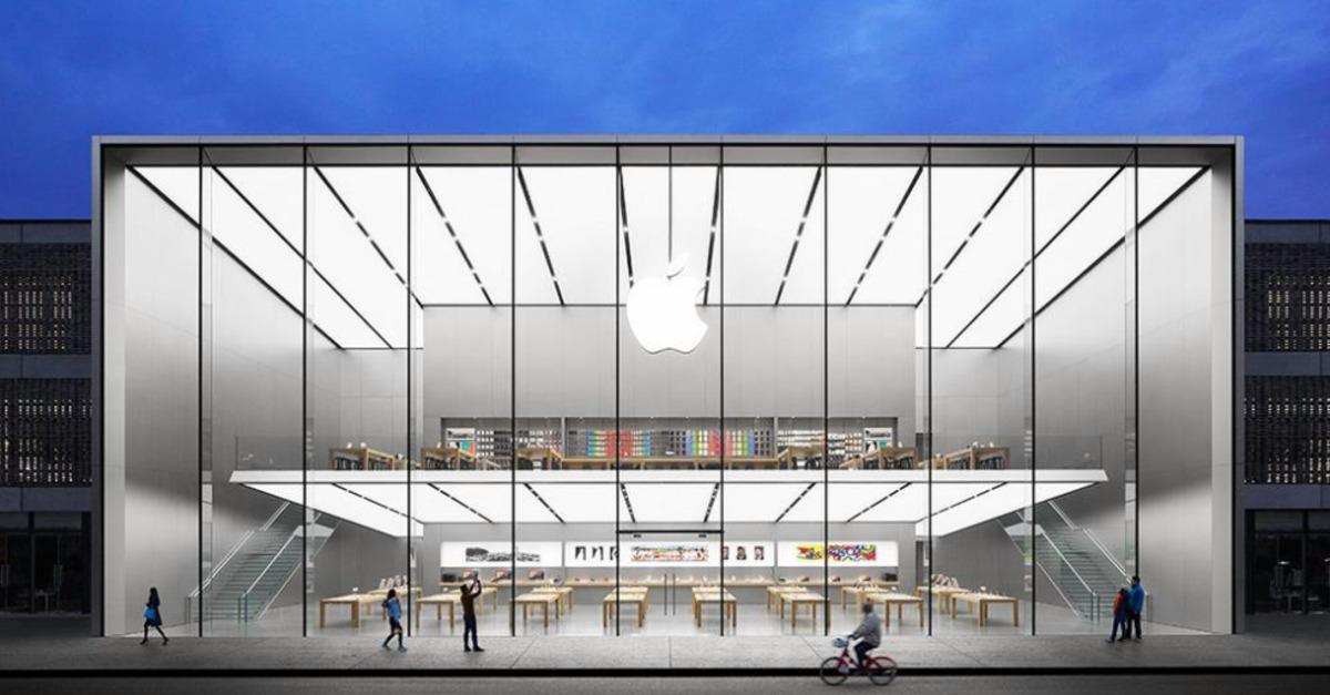 Een van de nieuwe Apple Stores in China.