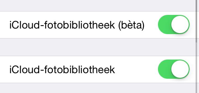 iOS 8.3 beta 3 (boven) en IOS 8.3 beta 4 (onder).