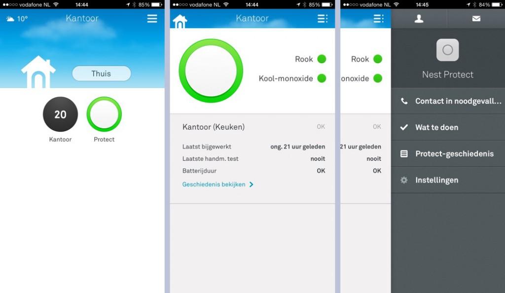 De Nest-app laat je zien of alles veilig is en waarschuwt met pushnotificaties.