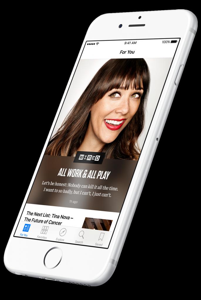 Wired in News op een iPhone