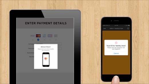 De betaling bevestig je op de iPhone met een vingerafdruk, je gezicht  of je stem.