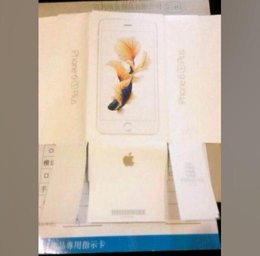 Verpakking van de iPhone 6s Plus?