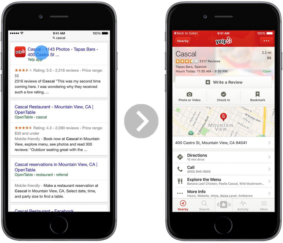 google-in-app-zoeken