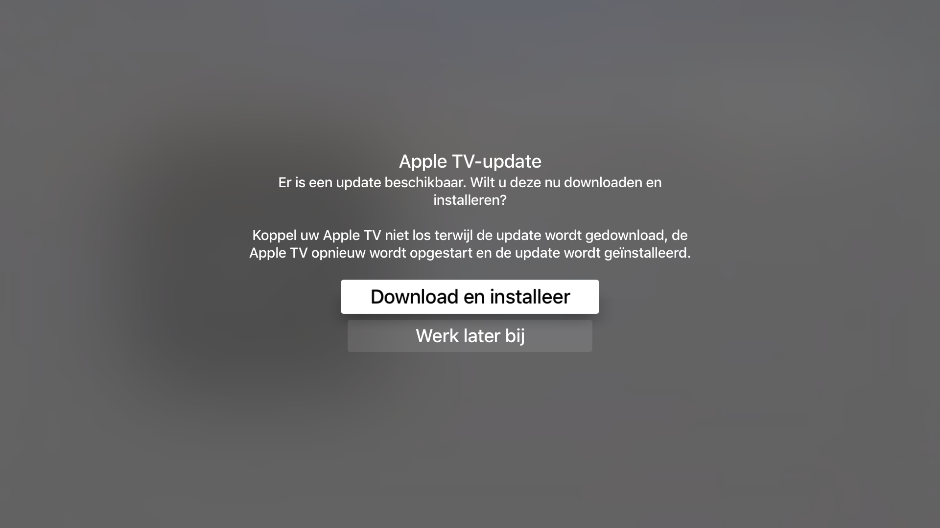 Apple TV update tvOS 12