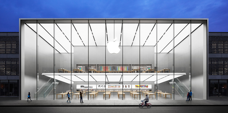 De recent geopende Apple Store in Hangzhou (China).
