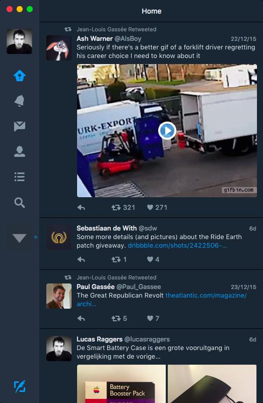 Twitter 4 Dark Mode