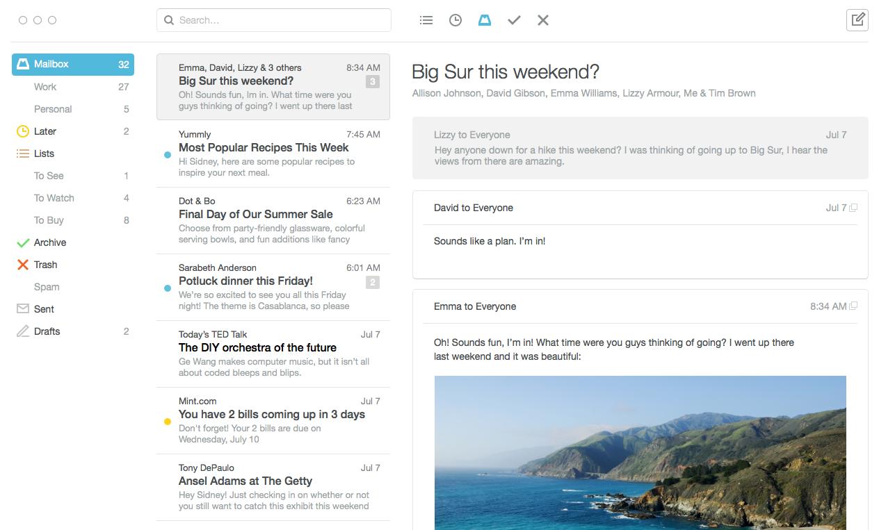 Mailbox voor Mac is na een jaar nog steeds in betafase.