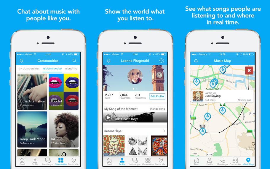 Soundwave is een klein sociaal netwerk voor muziek.