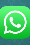 WhatsApp icon op een iPhone
