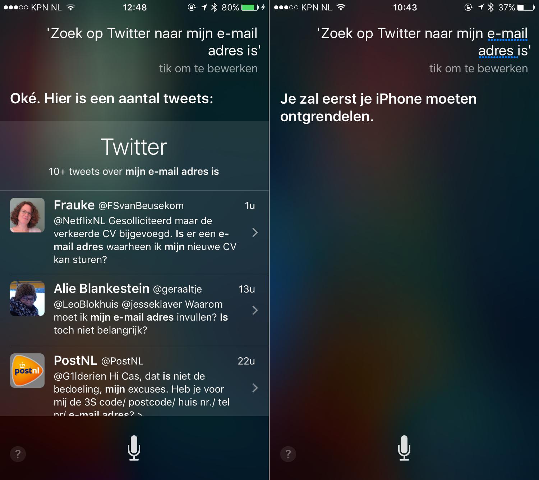 Voor (links) en na (rechts) Apple's ingrijpen.