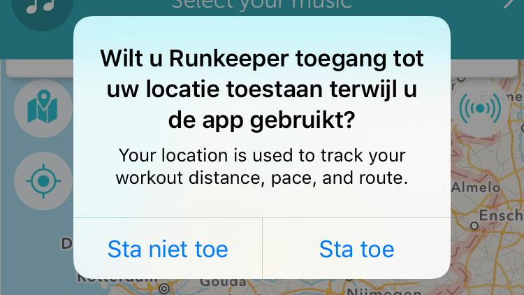 iOS voorkomt constante tracking.