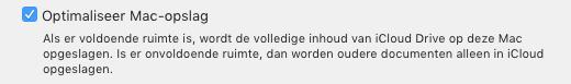 Laat macOS bestanden schuiven tussen je Mac en iCloud