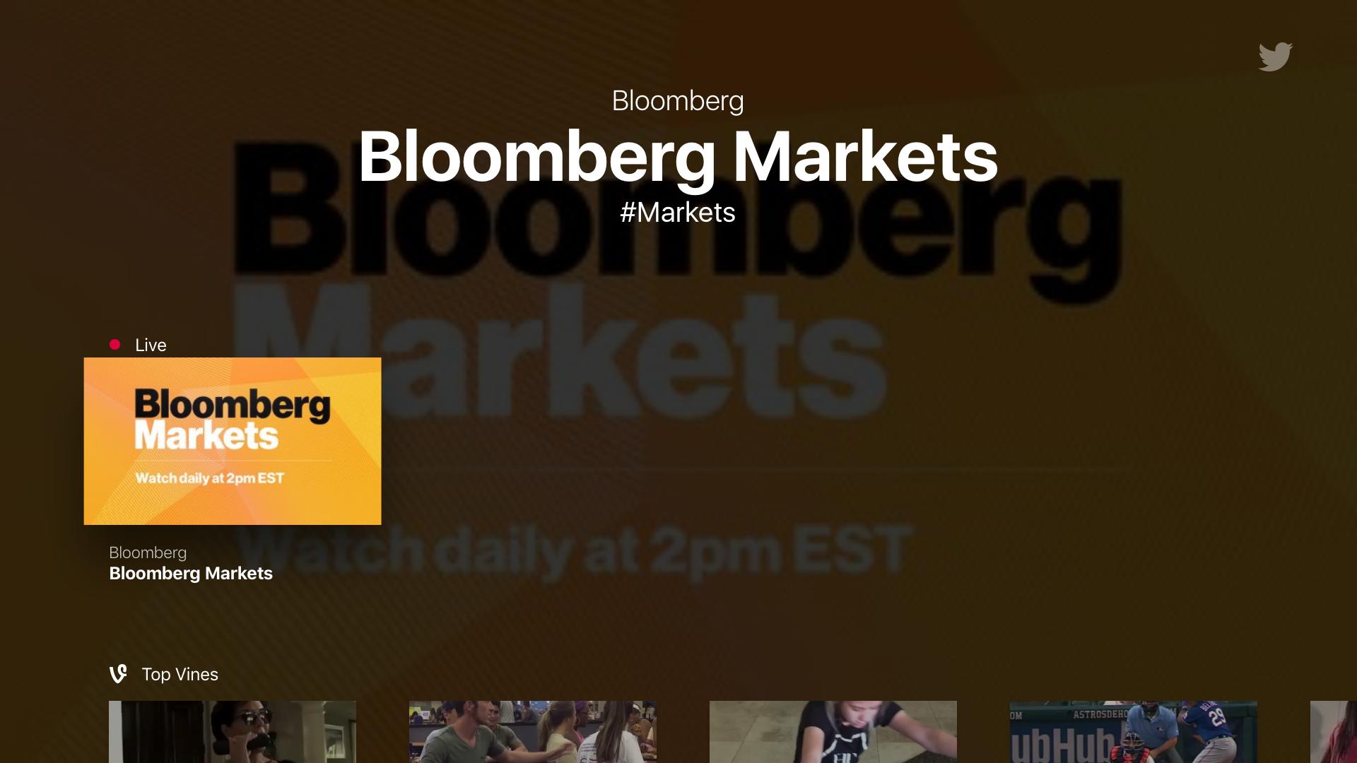 Momenteel als enige live: Bloomberg.